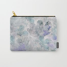 Nostalgic Pastel Flower Art Carry-All Pouch