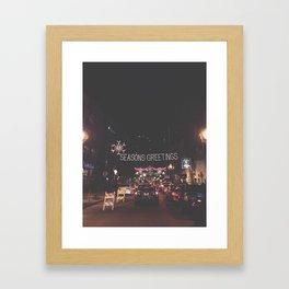 seasons greetings Framed Art Print