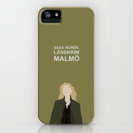 Saga Noren Länskrim Malmö / Broen Bron The Bridge / Sweden Denmark iPhone Case