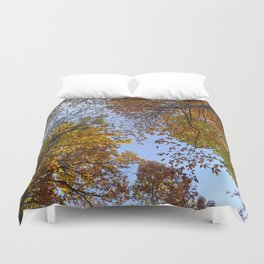 """Up in the air"". Forest colors Duvet Cover"
