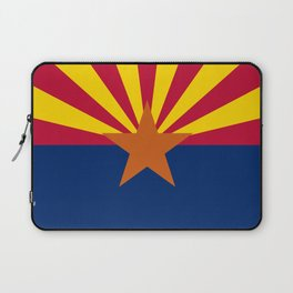 Arizona State flag, Authentic version - color and scale Laptop Sleeve