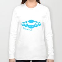 squirtle Long Sleeve T-shirts featuring Squirtle Squad by Ube Bones