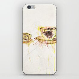 Watercolour Vintage Teacups – Big and Little iPhone Skin