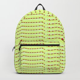 triangles and green-abstraction,abstract,geometric,geometrical,pattern,triangle,order Backpack