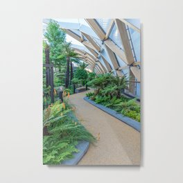 Crossrail rooftop garden in London Metal Print