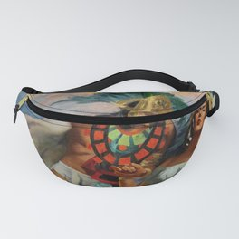 Caballero Aztec Warrior and Queen Mexican Yucatan romantic portrait painting Fanny Pack