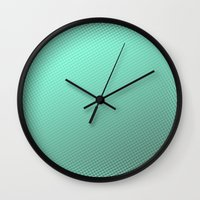 amy hamilton Wall Clocks featuring Amy  by Angela Pesic
