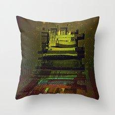 Building 08-07-16 / COSMIC MIRROR at NIGHT Throw Pillow