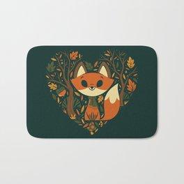 Foxy Heart Bath Mat