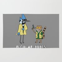 regular show Area & Throw Rugs featuring Regular Dudes by Stuff Of Kings