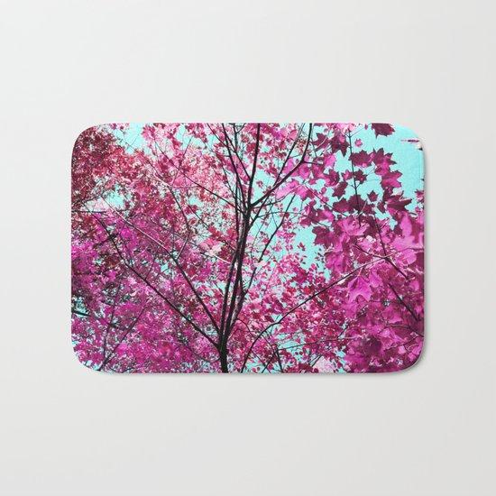 Autumn Pink Bath Mat