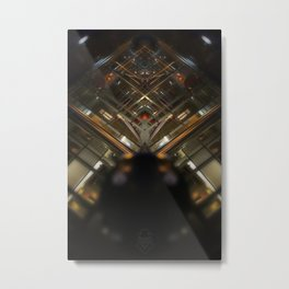 Gare Bruxelles-Luxembourg Station Brussel-Luxemburg symmetry rorschach caleidoscope Metal Print