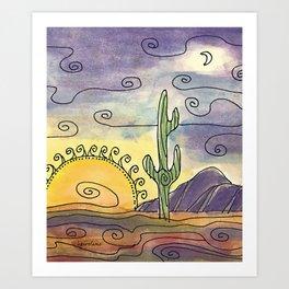 Sacred Saguaro Art Print