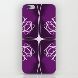 Purple Fade Lines iPhone Skin