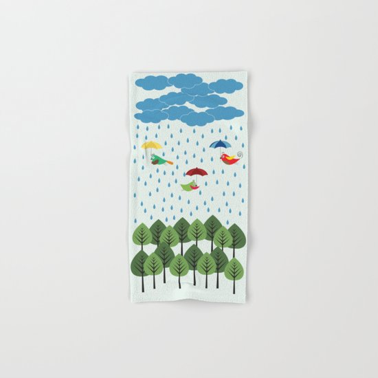 Birds in the rain. Hand & Bath Towel