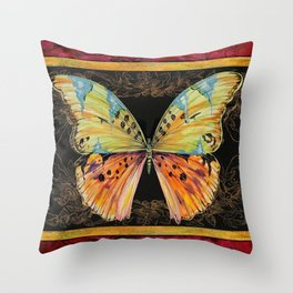 Spanish Butterfly Throw Pillow