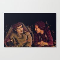 larry stylinson Canvas Prints featuring Larry Stylinson - This is Us Campfire by Aki-anyway