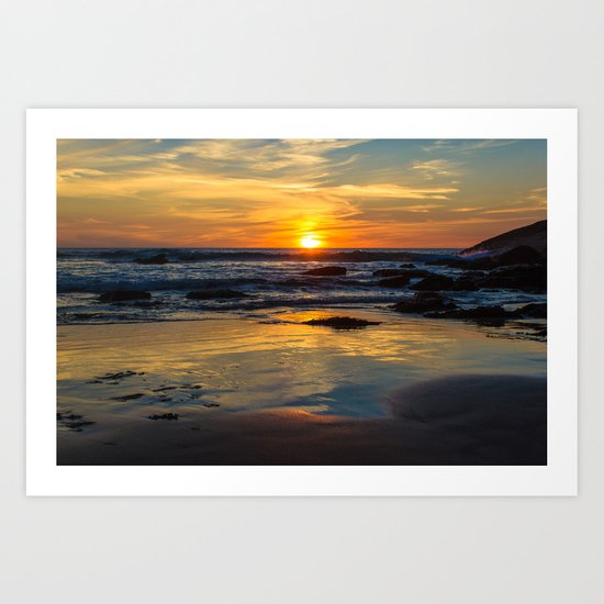 Sunset on Whipsiderry Beach Art Print
