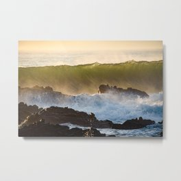 Green Tide Metal Print
