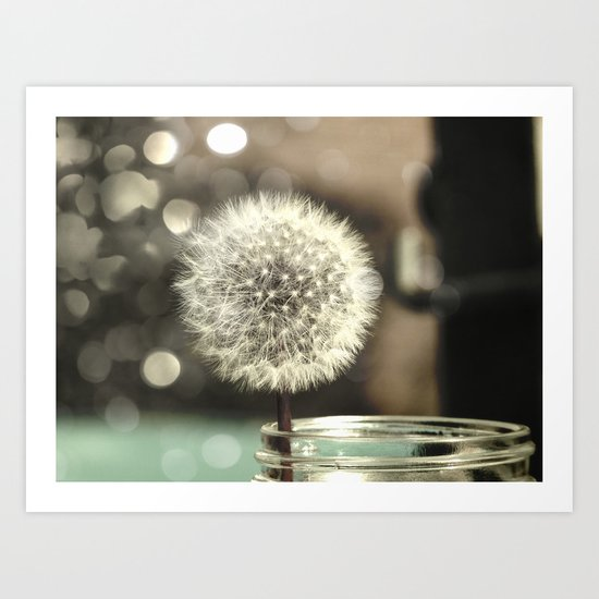 Dandelion in a Jar Art Print