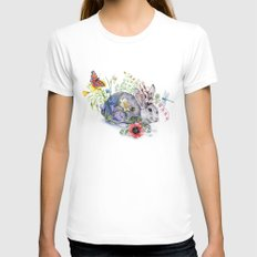 Spring Jackalope Womens Fitted Tee MEDIUM White