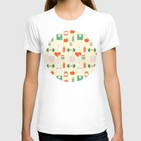 fitness T-shirts featuring Fitness pattern by Xinnie and RAE