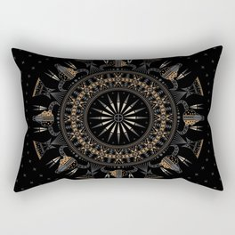 Buffalo Skull and Feathers (Brown) Rectangular Pillow