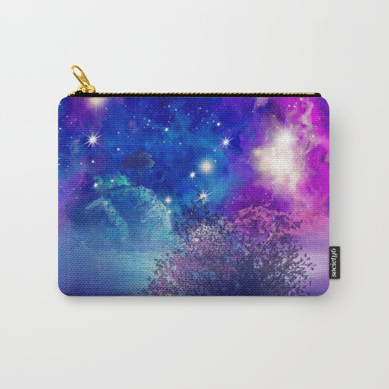 purple blue galaxy landscape Carry-All Pouch