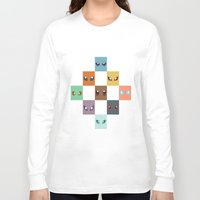 eevee Long Sleeve T-shirts featuring Eyes of Eevee by Casey Sawyer