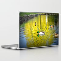 ducks Laptop & iPad Skins featuring ducks by  Agostino Lo Coco