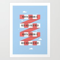 arsenal Art Prints featuring Arsenal FC by Michael Wilson