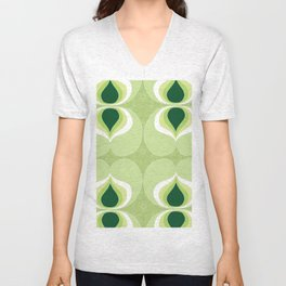 1960`s inspired abstract geometric pattern Unisex V-Neck