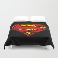 superman Duvet Covers featuring Superman by sambeawesome