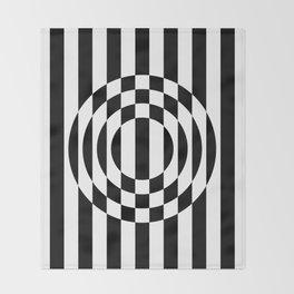 Hot Spot || Black & White Throw Blanket