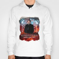 crowley Hoodies featuring Supernatural Crowley King of Hell S6 by Jamie Fontaine