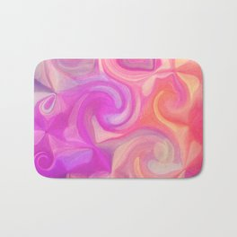 pink and orange swirls Bath Mat