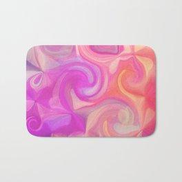 pink and orange swirls Bath Mat