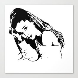 PORTRAIT 0F AN AMERICAN FEMALE POP STAR,ACTRESS AND SONGWRITER Canvas Print