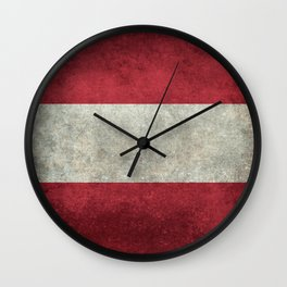 Austrian National Flag - Vintage Version Wall Clock