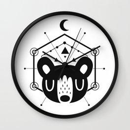 Moon Bear Black Wall Clock