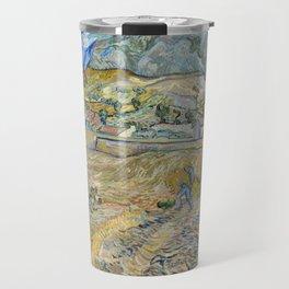 Vincent Van Gogh - Landscape at Saint-Rémy, Enclosed Field with Peasant Travel Mug