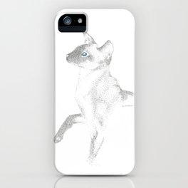 siamese cat ink iPhone Case