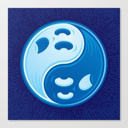 Ghost Yin Yang Symbol Canvas Print