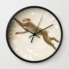 Monkey Jump Wall Clock