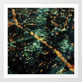 72 Floors Up Art Print