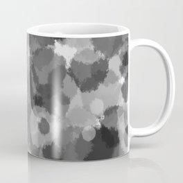 Gray polka dots pattern Coffee Mug
