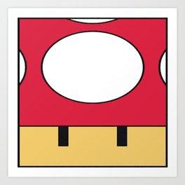 Minimal Toad red Art Print