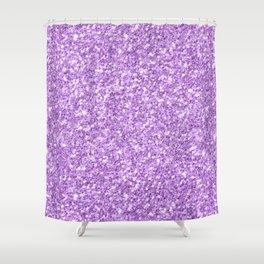 Purple Glitter Shower Curtain