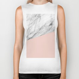 Marble and Pale Dogwood Color Biker Tank