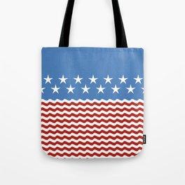 Patriotic Wave Tote Bag